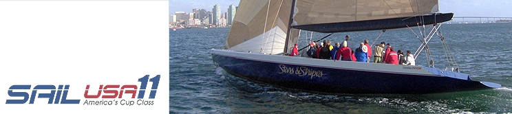 Sail USA-11: Corporate TeamBuilding, Private and Public Charters on the America's Cup Racing Yacht - Stars & Stripes