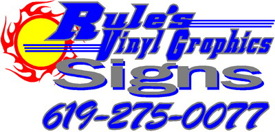Best Prices in all of San Diego  Fastest Service, Top Quality Materials, Vinyl Graphics, Vinyl Lettering, Vinyl Decals, Vinyl Vehicle Graphics, Vinyl Vehicle Lettering, Vinyl Boat Graphics, Vinyl Boat Lettering, Store Front Signage, Custom Logos, Decals, Stickers, A-Frame Signs, Sandwich Signs, Realtor Signs, Construction Signs, Full Vehicle Body Wraps, Full Color Graphics, Plotter Graphic Designs, Mobile Graphic Vinyl Designs. wil@rvgsigns.com or call (619) 275-0077
